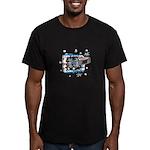 Hockey Puck Break Through Men's Fitted T-Shirt (da