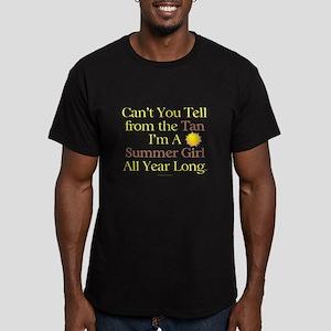 Summer Girl Tan Men's Fitted T-Shirt (dark)