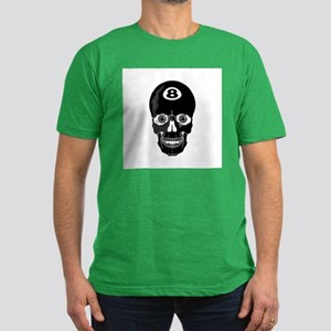 Eight Ball (8 Ball) Skull Men's Fitted T-Shirt (da