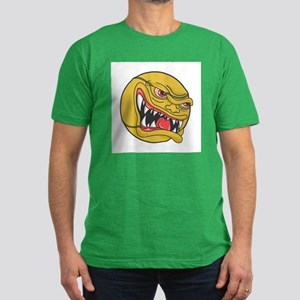 Angry Tennis Ball Men's Fitted T-Shirt (dark)
