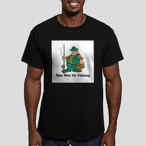 Reel Men Go Fishing Men's Fitted T-Shirt (dark)