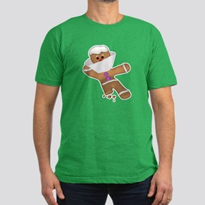 Funny Bit Himself Gingerbread Men's Fitted T-Shirt