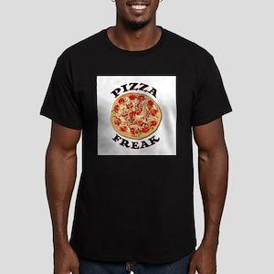Pizza Freak Men's Fitted T-Shirt (dark)