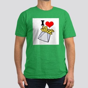 I Heart (love) French Fries Men's Fitted T-Shirt (