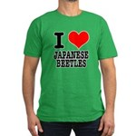 I Heart (Love) Japanese Beetl Men's Fitted T-Shirt