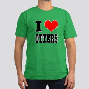 I Heart (Love) Otters Men's Fitted T-Shirt (dark)