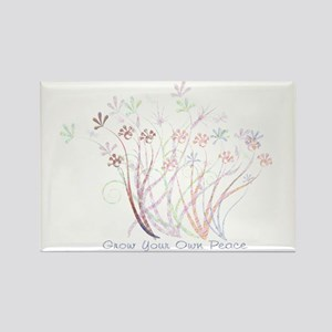 Grow Your Own Peace 2 Rectangle Magnet