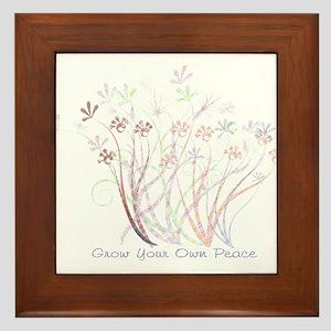 Grow Your Own Peace 2 Framed Tile