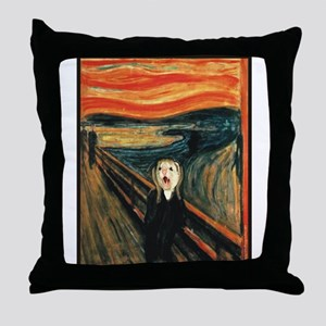 Ferret Scream Munch Throw Pillow