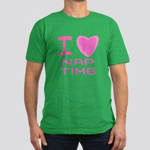 Pink I Heart (Love) Nap Time Men's Fitted T-Shirt