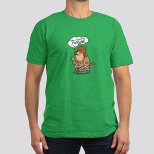 Redneck Possum' Hunter Men's Fitted T-Shirt (dark)