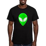 Alien Head Men's Fitted T-Shirt (dark)