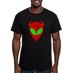 Evil Alien Men's Fitted T-Shirt (dark)
