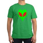 Alien Heart Men's Fitted T-Shirt (dark)