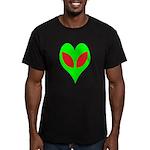 Alien Heart Men's Fitted T-Shirt (dark)