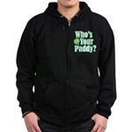 Who's Your Paddy? Zip Hoodie (dark)
