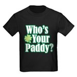 Who's Your Paddy? Kids Dark T-Shirt