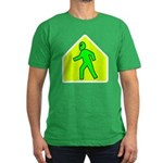 Alien Crossing Men's Fitted T-Shirt (dark)