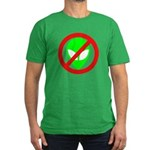 No More Aliens Men's Fitted T-Shirt (dark)