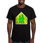 Alien School Xing Men's Fitted T-Shirt (dark)