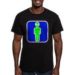 Alien Man Men's Fitted T-Shirt (dark)