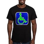 Handicapped Alien Men's Fitted T-Shirt (dark)