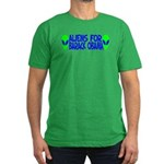 Aliens For Barack Obama Men's Fitted T-Shirt (dark