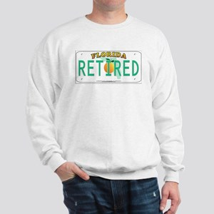 Florida Retired Vanity Plate Sweatshirt