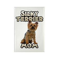 Silky Terrier Mom Rectangle Magnet