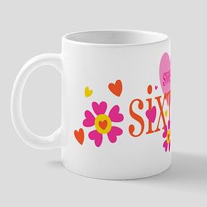 Sweet 16 Heart Flower Mug
