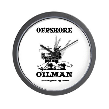 Offshore Oilman Wall Clock,Oil Field, Gas,