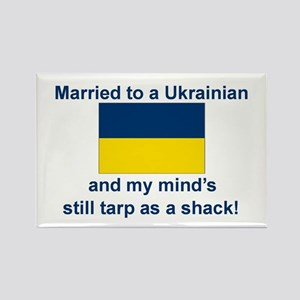 Married To A Ukrainian Rectangle Magnet