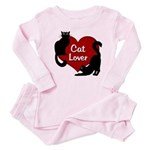 Fat Cat & Cat Lover Baby Pink Pajamas