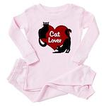 Fat Cat & Cat Lover Baby Pink Pajamas