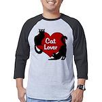 Fat Cat & Cat Lover Mens Baseball Tee