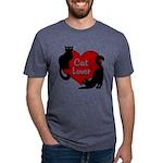 Fat Cat & Cat Lover Mens Tri-blend T-Shirt