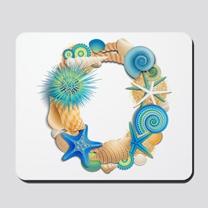 Beach Theme Monogram Letter O Mousepad