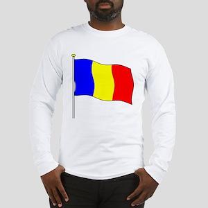Romania Flagpole Long Sleeve T-Shirt