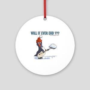Snowbound Penguin Ornament (Round)
