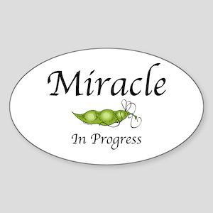 Miracle In Progress Oval Sticker