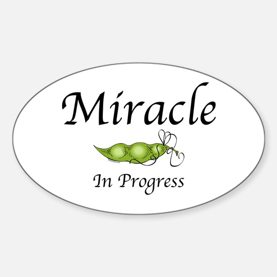 Miracle In Progress Oval Decal