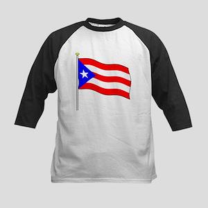 Puerto Rico Flagpole Kids Baseball Jersey