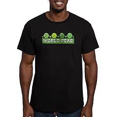 World Peas Men's Fitted T-Shirt (dark)