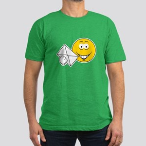 Postal Smiley Face Men's Fitted T-Shirt (dark)