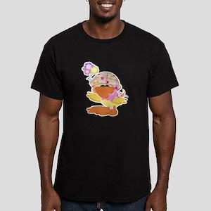 Cute Baby Girl Ducky Duck Men's Fitted T-Shirt (da