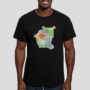 Cute Bathtime Ducky Men's Fitted T-Shirt (dark)