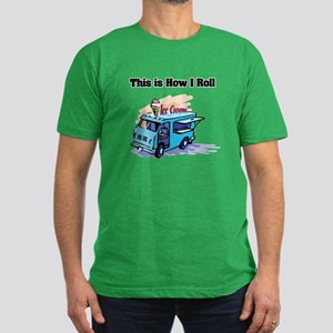 How I Roll (Ice Cream Truck) Men's Fitted T-Shirt