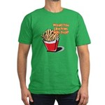 Like Fries With That? Men's Fitted T-Shirt (dark)