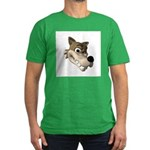 Funny Wolf Face Men's Fitted T-Shirt (dark)