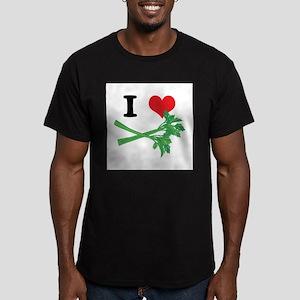 I Heart (Love) Celery Men's Fitted T-Shirt (dark)